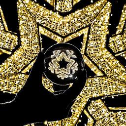 freetoedit christmas lights hand lensball refraction