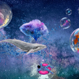 freetoedit galexy waterdrops waterworld bubbles sealife surreal intothewater