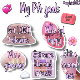 niche pink goals acc giveaway 1kfollowers happy freetoedit