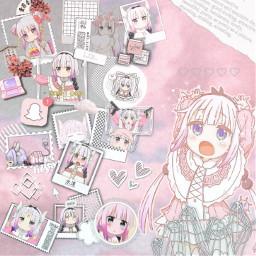 freetoedit anime kobayashisanchinomaiddragon kanna kannaedit