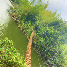 freetoedit myphoto bridge lake puentecolgante beautiful nature puertorico photography sky naturaleza lanscape naturelover picsart picsartshoutout picsartmaster love pic picoftheday