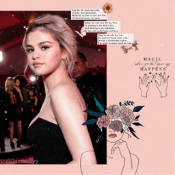 freetoedit replay selenagomez selenator aesthetic sticker aestheticsticker fotoedit doodle vintage draw flower green pink faceart moon star quotes