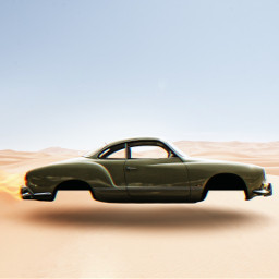 icyx madewithpicsart car desert old oldtimer light fire speed green glitch shutterstock unsplash heat surreal freetoedit remixit sun summer