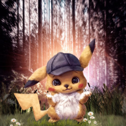 freetoedit pokemon detectivepikachu pikachu nature fanart unsplash alienized wallpaper uhd editedwithpicsart
