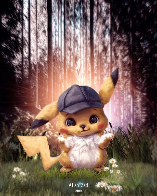 Pikachu and I wish you a wonderfull week planet 🖖🏻👽👉🏻☕️🍪🍩@PA 😊  #freetoedit #pokemon #detectivepikachu #pikachu #nature #fanart backgroud picture OP #unsplash #alienized #wallpaper #uhd #editedwithpicsart