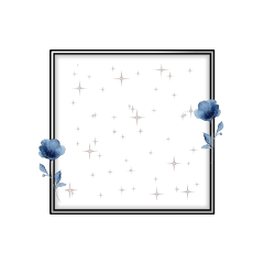 freetoedit frame aesthetic blue flower flowers glitter stars blueaesthetic pastel cute