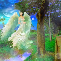 freetoedit fantasyart angel fairy dreamy surreal surrealistic bokeh prismeffect prismlights picsarteffects artisticedit myimagination becreative myedit madewithpicsart
