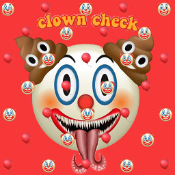 freetoedit clown scary ballons poopemoji clownemoji clowncheck pennywisethedancingclown madebyme recreation