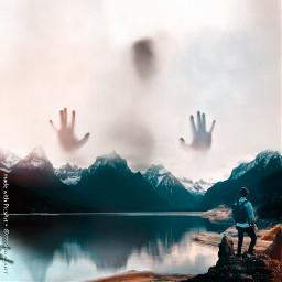freetoedit edit surreal horor mountain