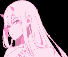 freetoedit zerotwo pastelpink pastel anime ditfrxx darlinginthefrankxx animegirl cute kawaii aesthetic pastelaesthetic palepink monochrome pink