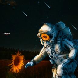 freetoedit manipulation madewithpicsart surreal creative astronaut colochis89 👨🏻🚀🌠🌻♥️👋🏻☺️🌷🍃 colochis89