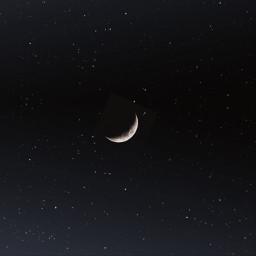 background sky night stars moon black light freetoedit