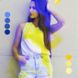 girl glitch glitcheffect colorsplash iloveit freetoedit