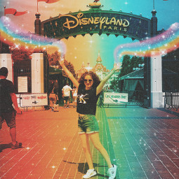 magic disneyworld disneyland glitter rainbow freetoedit
