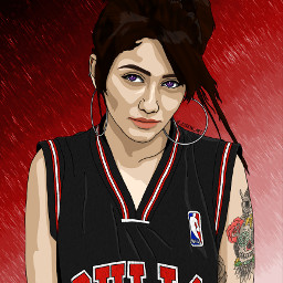 ac_digital_art art artist picsart picsartedit painting drawing portrait people girl girls graphicart graphicdesign vectorart vector vectors digitalart digitalpainting digitaldrawing chicagobulls