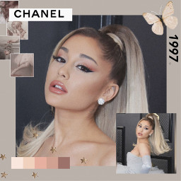 freetoedit reply edit arianagrande ariana chanel beige aesthetic art colour colourful noise fashion fashionable instagram pallete 1997 makeup edits beigeaesthetic tan lightpink butterfly singer famous
