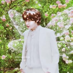 hueningkai fairy green kpop kpopedit kpopaesthetic aesthetic manip freetoedit