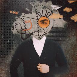 freetoedit abstract grunge geometricshapes orangeaesthetic