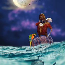 freetoedit myedit madewithpicsart editedbyme editedwithpicsart picsart surreal pirates shark replay