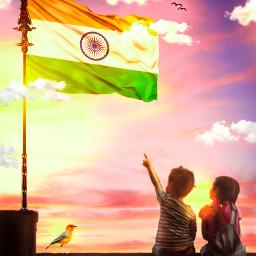 freetoedit independenceday freedom girl boy