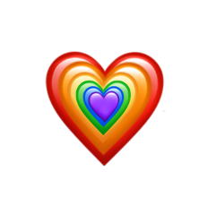 arcobaleno cuori freetoedit