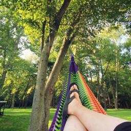 freetoedit hammock summer feet tree colorful