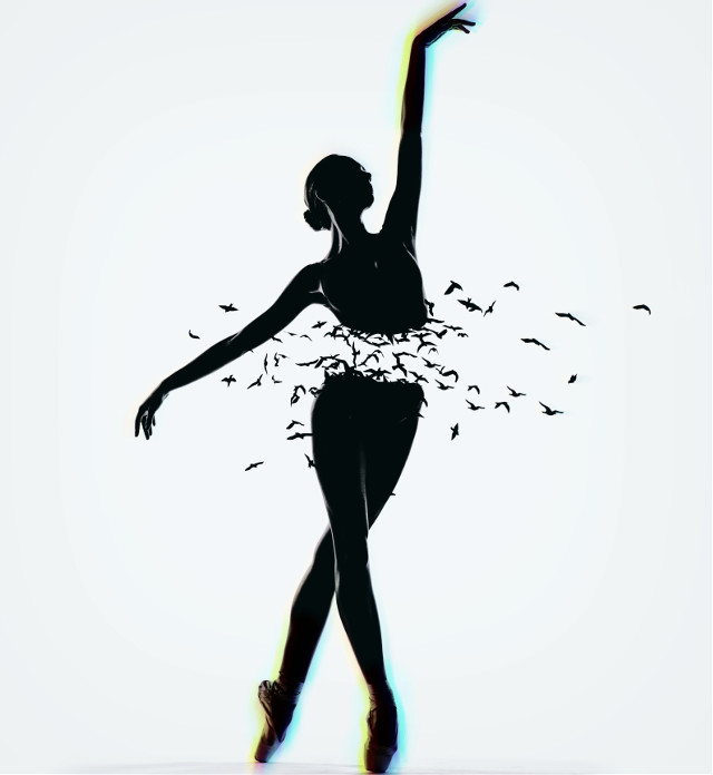 #freetoedit #icyx #ballet #dancer #girl #elegant #blackandwhite #rainbow #glitch #birds #flying #dance #sport #beautiful #calm #madewithpicsart #remixit #shutterstock @picsart