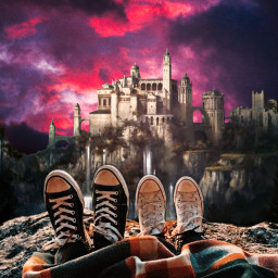 freetoedit purple purpleaesthetic sky sunset castle couple picsart picsartedit papicks heypicsart be_creative madwithpicsart stayinspired createfromhome myedit space galaxy galaxyedit magic magical surreal surrealism visualart