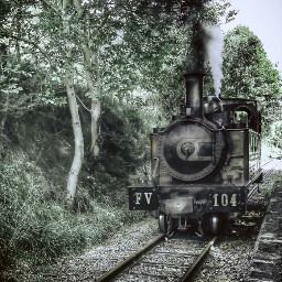 tren train locomotora vapor steamtrain freetoedit