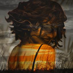 freetoedit myedit madewithpicsart remix woman sunset nature beautiful shadow shadowmask