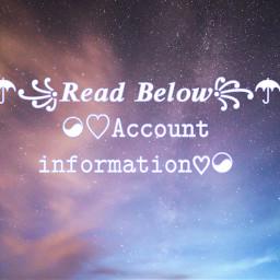 accounts information freetoedit