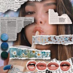 replayedit slurp tornpaper rippedpaper decor faceart madewithpicsart collage freetoedit