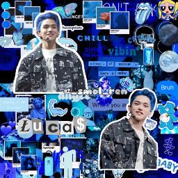 wongyukhei wonglucas lucaswong lucaswayv lucasnct nctlucas wayvlucas nct wayv blueaesthetic darkblueaesthetic blue darkblue freetoedit