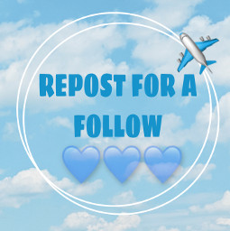 repostforafollow blueheart plane freetoedit