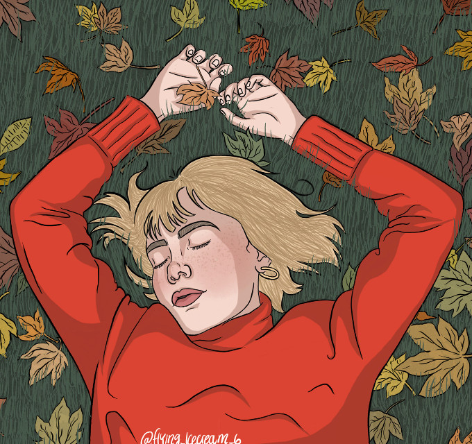 i know i havent been active much but heres something i did a few weeks ago and i think ive gotten way better over the years so here hope you like it :) #girlinred #girlinredfanart #wefellinloveinoctober #fall #art #fanart #digitalart