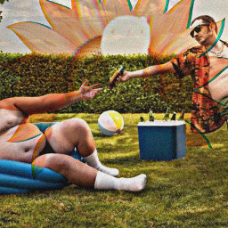 freetoedit reaching sharing bromance cooler summer effects men guys lol funny pool beachball hat sunglasses males people boys