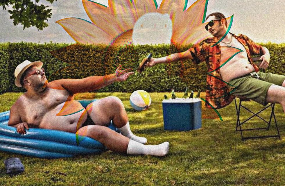 #freetoedit #reaching #sharing #bromance #cooler #summer #effects #men #guys #lol #funny #pool #beachball #hat #sunglasses #males #people #boys