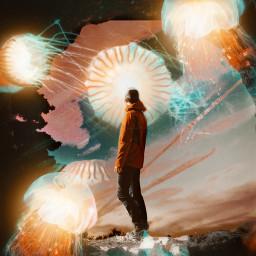 freetoedit cliff man orange picsart picsartedit papicks heypicsart be_creative madwithpicsart stayinspired createfromhome myedit space galaxy galaxyedit magic magical surreal surrealism jellyfish jellyfishremix