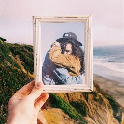 freetoedit couple pictureframe coast