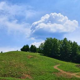 hill sky freetoedit