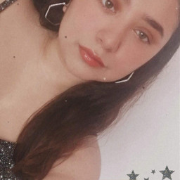 freetoedit girl makeup eyeshadows eyeliner maquillaje lips blue stars glowing glitter glitch sun outfit smile bronzer aesthetic tumblr words aesthetictext
