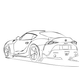 car sportscar supra fromphoto yourstocolor outlineart pureoutline realoutline colorit freetoedit