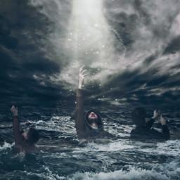 freetoedit drowning lightbeam rescue