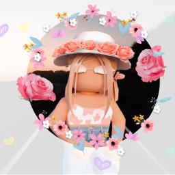 freetoedit flowers circleframe flowergirl sunglasses cowprint landscape