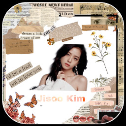 freetoedit jisoo_blackpink newspapercollage