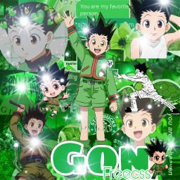 freetoedit anime gonfreecs hunterxhunter cute anime_edit adorable gon hunter