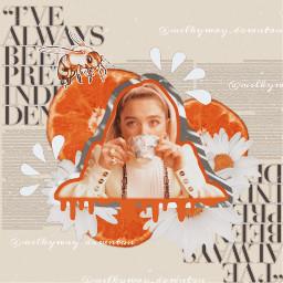 florencepugh florence collage collageedit vintagecollage vintage vintageedit vintageaesthetic orange orangeaesthetic oranges collageart digitalcollage beigeaesthetic whiteaesthetic orangeandwhite freetoedit