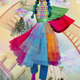 freetoedit citrussteps steps staircase girl uniquestyle pretty doves colorfulclouds forest trees swings swinging imagination myimagination stayinspired create madewithpicsart
