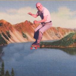 skateboard senior lake