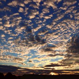 freetoedit clouds sky evening sunset sun view wonderful beautiful myphoto scenery summer nature light loveit colors